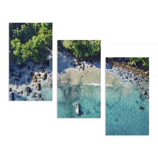 Модульная фотокартина на холсте Тропический берег