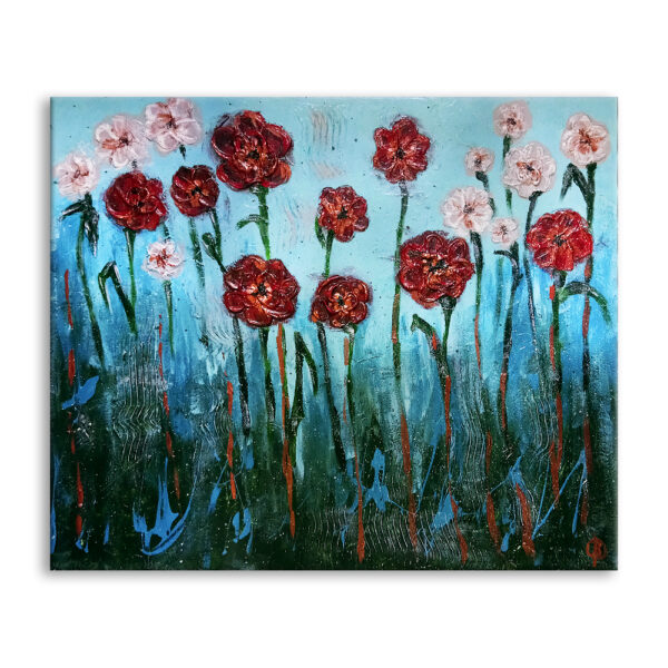 Авторская картина на холсте Цветы