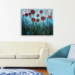 Авторська картина на полотні Квіти