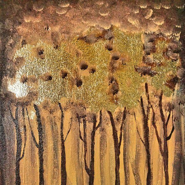Авторська картина на полотні Золотий ліс