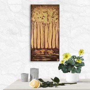 Авторская картина на холсте Золотой лес