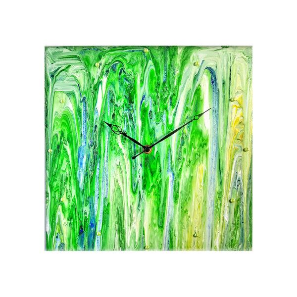 Авторские настенные часы ручной работы Абстракция