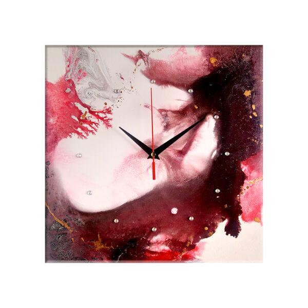 Авторские настенные часы ручной работы Грань будущего