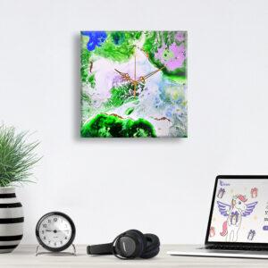 Авторские настенные часы ручной работы Карта мира