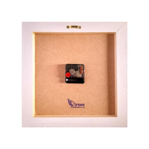 Авторские настенные часы ручной работы Золотой танец