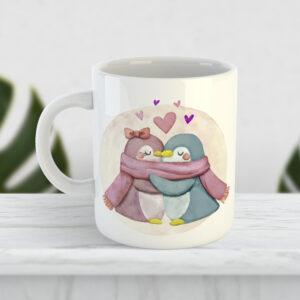 Чашка Влюблённые пингвины