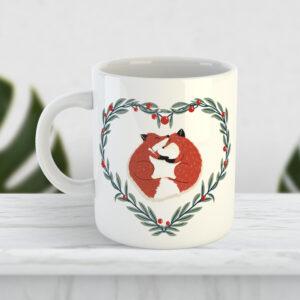 Чашка Довольные лисички