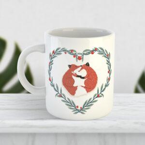 Чашка Задоволені лисички