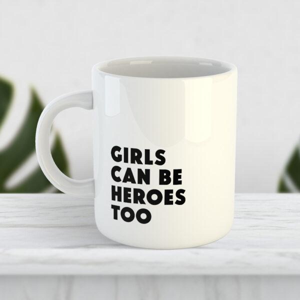 Чашка Girls can be heroes too
