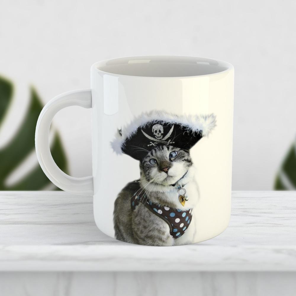 Чашка «Кот — пират»