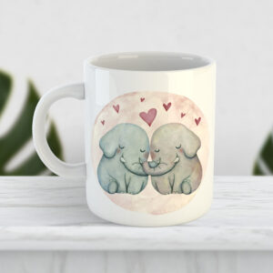Чашка Любов і слоники