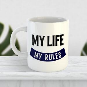 Чашка «My life my rules»