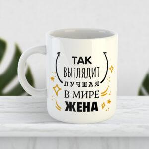 Чашка Так выглядит лучшая в мире жена
