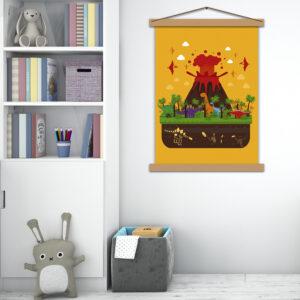 Детский постер Динозавры