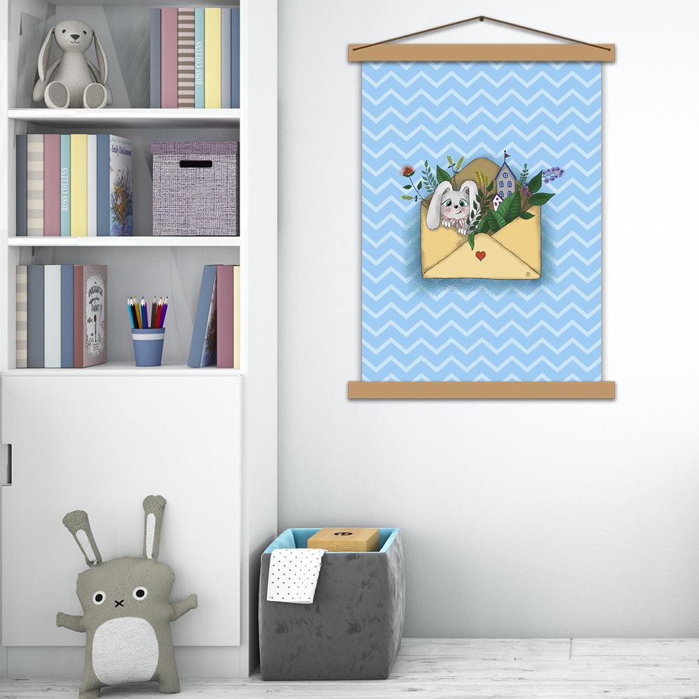 Детский постер «Зайка»