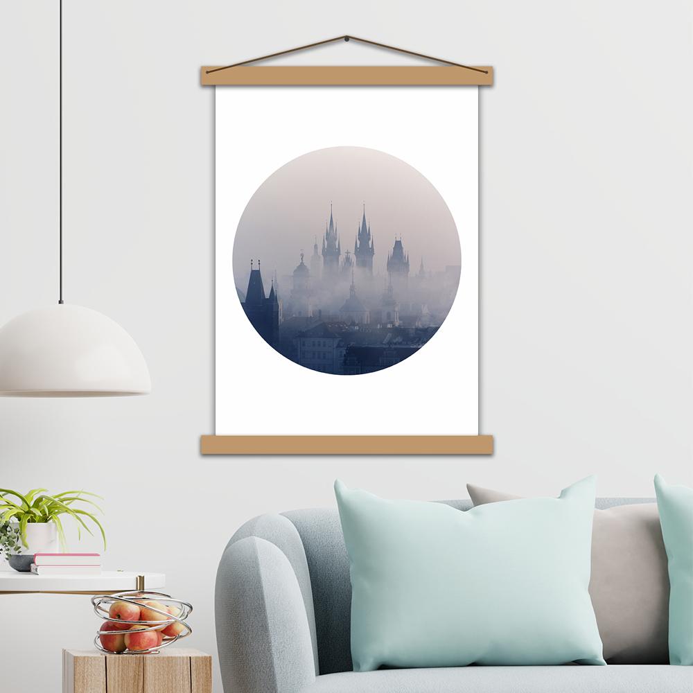 """Інтер'єрний постер """"Прага в тумані"""""""