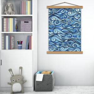 Интерьерный постер в детскую Повелитель волн