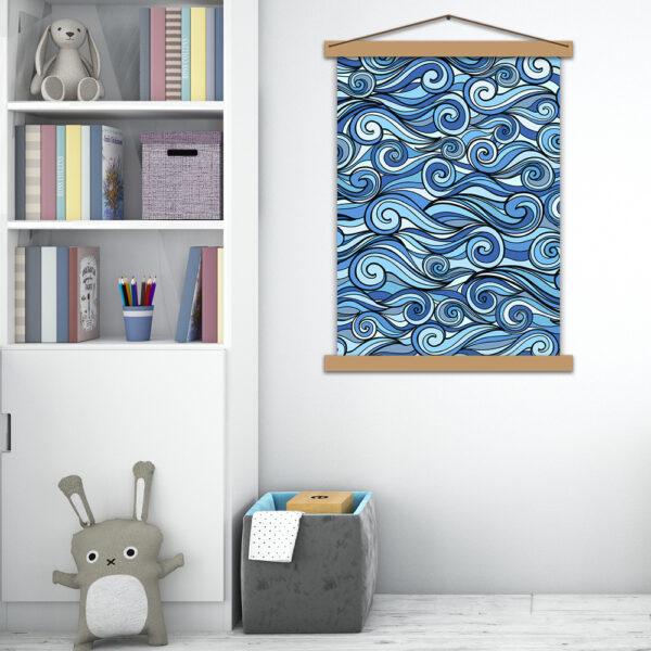 Інтер'єрний постер у дитячу Повелитель хвиль