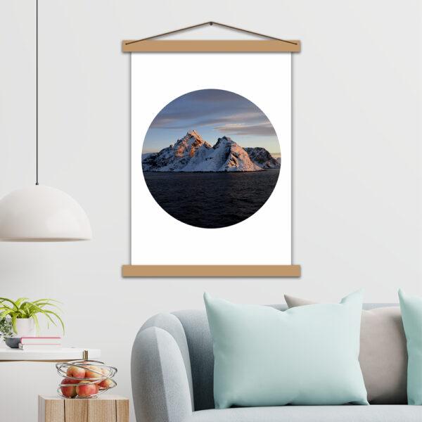 Интерьерный постер Снежные горы