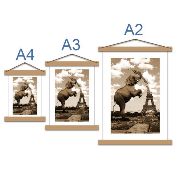 Креативный постер с паспарту - Слон и башня