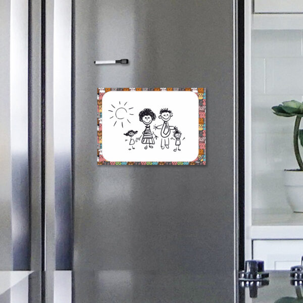 Магнітний лист А4 на холодильник Творчі котики