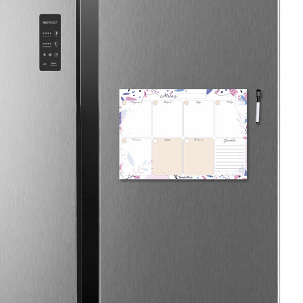 Магнитный планер А4 на холодильник Нежность (на неделю)