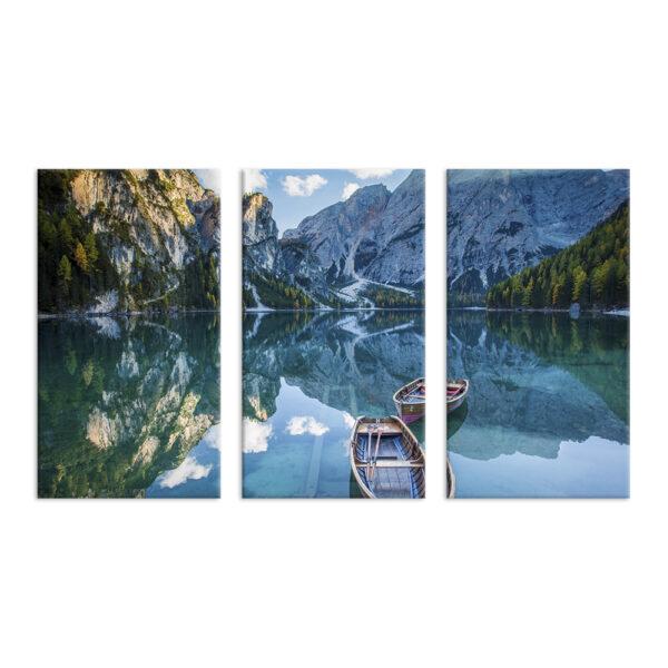 Модульна фотокартина на полотні Озеро в горах