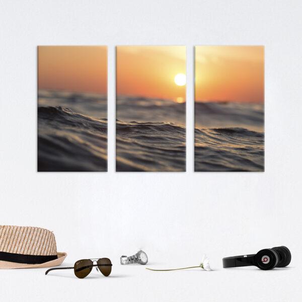Модульна фотокартина на полотні Сонце