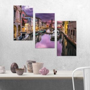 Модульна фотокартина на полотні Вечірня Венеція