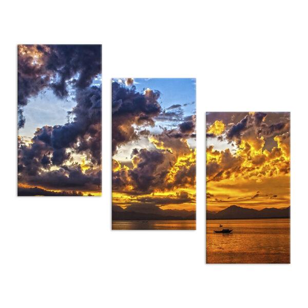 Модульная фотокартина на холсте Золотой вечер