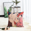 Оригинальная декоративная подушка с принтом Поцелуй