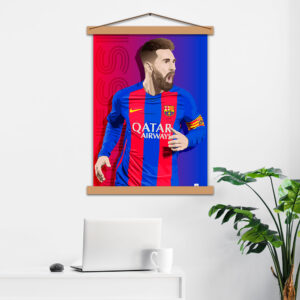 Постер авторський Messi