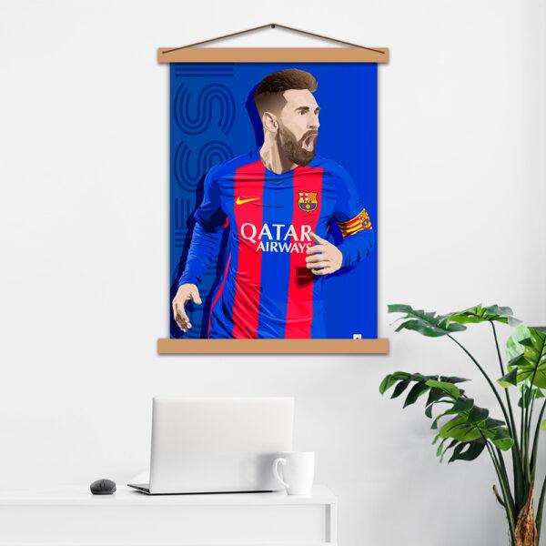 Постер авторский Messi