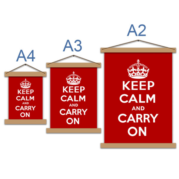 Постер мотиваційний - Keep calm and carry on
