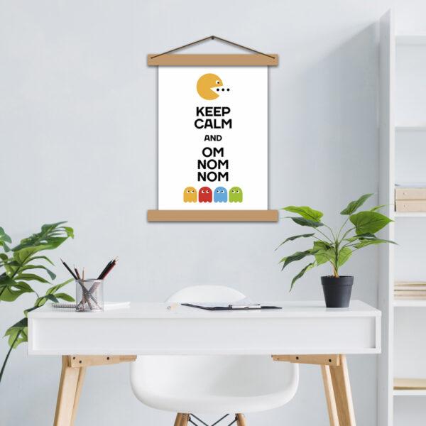 Постер для кухни - Keep calm and om nom nom