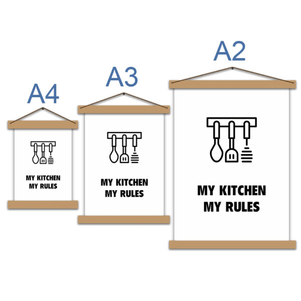 Постер для кухни - My kitchen - my rules