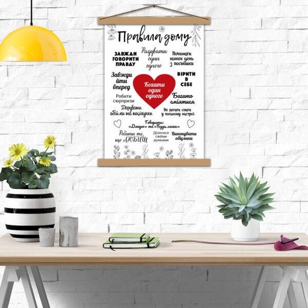 Постер молодятам - Правила будинку закоханих