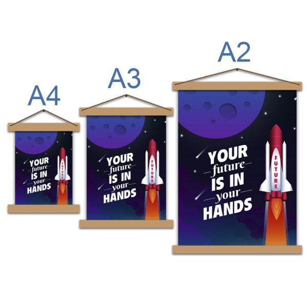 Постер мотивационный Your future is in your hands