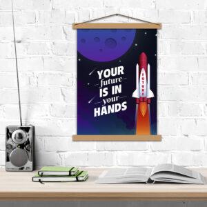 Постер мотиваційний Your future is in your hands