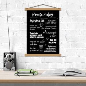 Постер на английском «House Rules»