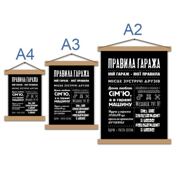 Постер - Правила гаража українською