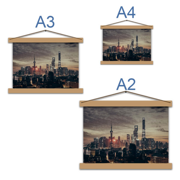 Постер с городом - Шанхай