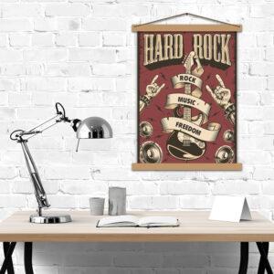 Постер для любителей тяжелой музыки - Hard Rock music