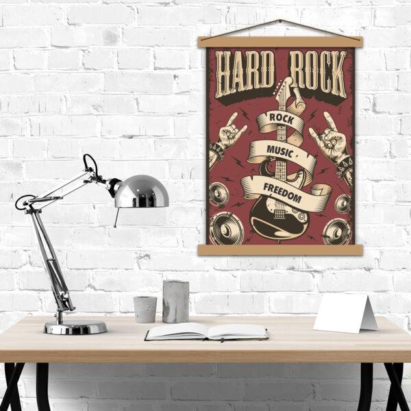 Постер для любителів важкої музики - Hard Rock music