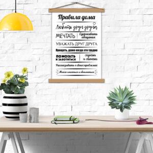 Плакат - Правила нашего дома
